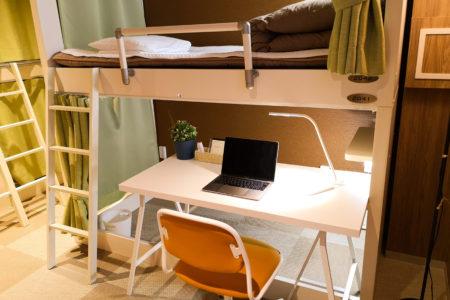 泊まれるオフィス「BED&OFFICE」