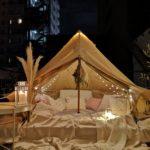 屋上グランピングでラクレットチーズ&ホットワイン♪in 南京町【11月19日見学会のお知らせ】